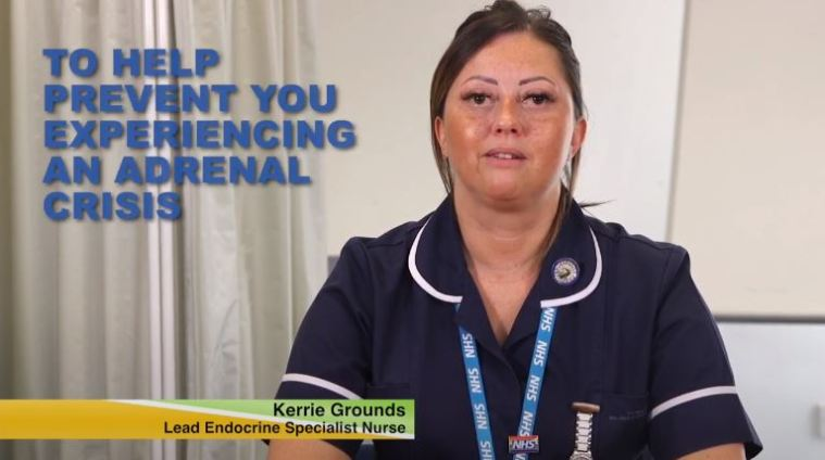 Kerrie Grounds adrenal crisis video image
